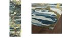 """Kaleen Brushstrokes BRS02-17 Blue 2'6"""" x 8' Runner Rug"""