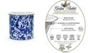 Golden Rabbit Cobalt Swirl Enamelware Collection Utensil Holder
