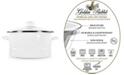 Golden Rabbit Solid White Enamelware Collection 6 Quart Stock Pot