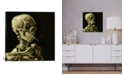 """iCanvas Head Of A Skeleton With A Burning Cigarette by Vincent Van Gogh Wrapped Canvas Print - 18"""" x 18"""""""