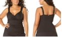 Anne Cole Plus Size Twist-Front Underwire Tankini Top