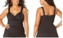 Anne Cole Plus Size Twist-Front Underwire Tankini Top