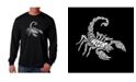 LA Pop Art Men's Word Art Long Sleeve T-Shirt - Types of Scorpions