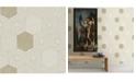 "A-Street Prints 20.5"" x 396"" Momentum Bone Geometric Wallpaper"