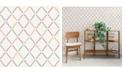 "A-Street Prints 20.5"" x 396"" Allotrope Rose Linen Geometric Wallpaper"