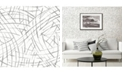 """A-Street Prints 20.5"""" x 396"""" Willy Nilly Brushstrokes Wallpaper"""