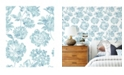"A-Street Prints 20.5"" x 396"" Folia Floral Wallpaper"