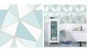 "Advantage 20.5"" x 369"" Apex Blue Geometric Wallpaper"