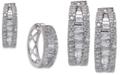 Macy's Diamond Baguette Hoop Earrings (1-1/4 ct. t.w.) in 14k White Gold