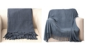 "Battilo Home Cable Knit Woven Luxury Tasseled Ends Throw 50"" X 60"""