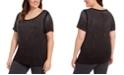 Calvin Klein Plus Size Rhinestone-Embellished Top