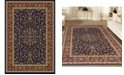 """KM Home CLOSEOUT! 1318/1541/NAVY Navelli Blue 5'5"""" x 8'3"""" Area Rug"""