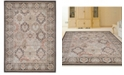 """KM Home CLOSEOUT! 3802/0012/BROWN Gerola Brown 7'10"""" x 10'6"""" Area Rug"""