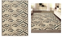 "KM Home CLOSEOUT! 3796/1001/BONE Imperia Ivory/ Cream 5'3"" x 7'3"" Area Rug"