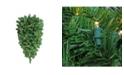 "Northlight 36"" Pre-Lit Pine Artificial Christmas Column Swag - Warm White LED Lights"