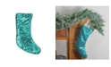 """Northlight 17.5"""" Green Shiny Sequins Hanging Christmas Stocking"""