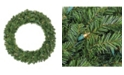 """Northlight 30"""" Pre-Lit Canadian Pine Artificial Christmas Wreath - Clear Lights"""