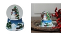"Northlight 4.75"" Musical Snowman Red Cardinal and Christmas Tree Snow Globe"