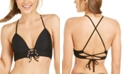 Hula Honey Juniors' Ribbed Push-Up Bikini Top, Available in D/DD, Created for Macy's