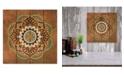 "Courtside Market Boho Medallion II 12"" x 12"" Wood Pallet Wall Art"