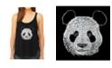 LA Pop Art Women's Premium Word Art Flowy Tank Top- Panda