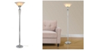 "Artiva USA Crystal Suite Collection 70"" H Modern 3-Light LED Crystal Torchiere Floor Lamp with Dimmer"