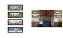 "Trendy Decor 4U Billy Jacobs Four Seasons Collection V 4-Piece Vignette, Black Frame, 26"" x 10"""