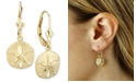 Macy's Sand Dollar Drop Earrings in 14k Gold