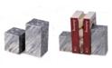Bey-Berk Marble Cube Design Bookends