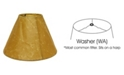 Macy's Cloth&Wire Slant Empire Softback Lampshade with Washer Fitter
