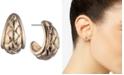 """Anne Klein Small Basket Weave Textured Open Hoop Earrings, 1/2"""""""