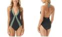 Vince Camuto Sunblock Halter One-Piece Swimsuit