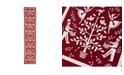 SKL Home Christmas Carol Table Runner in Red