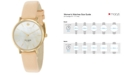 kate spade new york Women's Metro Vachetta Leather Strap Watch 34mm 1YRU0073