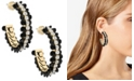 ZAXIE by Stefanie Taylor Starlight Glimmer Sequin and Cubic Zirconia Hoop Earrings