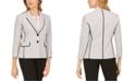 Kasper Petite Tweed Two-Button Blazer