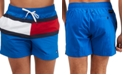 "Tommy Hilfiger Men's Tommy Flag 6.5"" Swim Trunks, Created for Macy's"