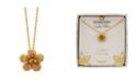 "David Tutera Gold Flash Plated Clear Cubic Zirconia Flower Pendant Necklace, 16""+2"" Extender by David Tutera Everyday Celebrations"