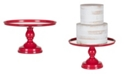 "Amalfi Jocelyn 12"" Mirror Top Cake Stand"
