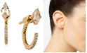 AVA NADRI 18k Gold-Plated Cubic Zirconia Marquise & Hoop Front & Back Earrings
