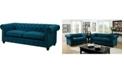 Furniture of America Skyana Upholstered Sofa