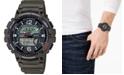Casio Men's Digital Fishing Gear Green Resin Strap Watch 48mm