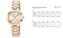 Anne Klein Watch, Women's Rose Gold-Tone Bracelet 32mm AK-1450RGRG
