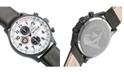 AVI-8 Men's Hawker Hurricane Chronograph Gray Genuine Leather Strap Watch 42mm