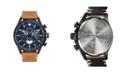 AVI-8 Men's Hawker Hunter Chronograph Avon Edition Tan Genuine Leather Strap Watch 45mm