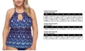 Raisins Curve Trendy Plus Size Juniors' Maldives Rosalie Underwire Tankini Top