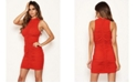 AX Paris Women's High Neck Ruched Bodycon Mini Dress