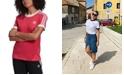 adidas Women's Adicolor Cotton 3-Stripe T-Shirt