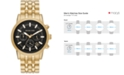 Michael Kors Men's Chronograph Gold-Tone Stainless Steel Bracelet Watch 39mm