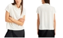 Alfani Faux-Leather Mock-Neck Top, Created for Macy's